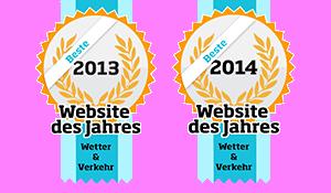 WetterOnline - Beste Wetter-Webseite des Jahres 2013 und 2014