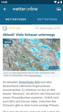 Wetter Online App Windows 10